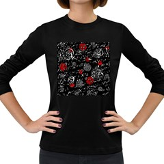Red mind Women s Long Sleeve Dark T-Shirts
