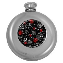 Red mind Round Hip Flask (5 oz)