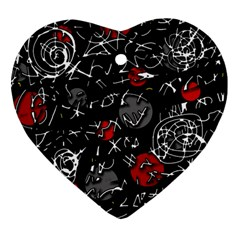 Red mind Heart Ornament (2 Sides)