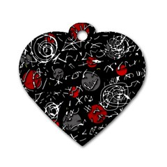 Red mind Dog Tag Heart (One Side)