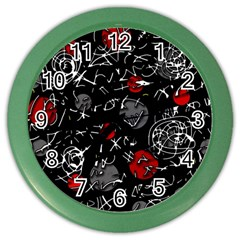 Red mind Color Wall Clocks