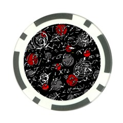 Red mind Poker Chip Card Guards