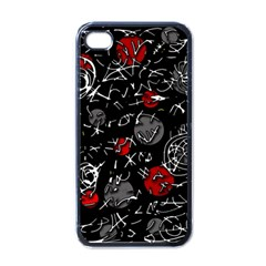 Red mind Apple iPhone 4 Case (Black)