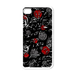 Red mind Apple iPhone 4 Case (White)
