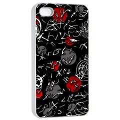 Red mind Apple iPhone 4/4s Seamless Case (White)