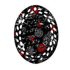 Red mind Ornament (Oval Filigree)