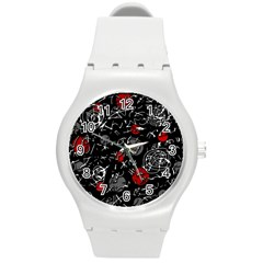 Red mind Round Plastic Sport Watch (M)