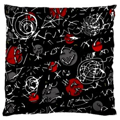 Red mind Large Cushion Case (Two Sides)