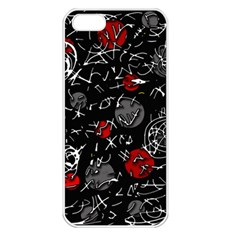 Red mind Apple iPhone 5 Seamless Case (White)