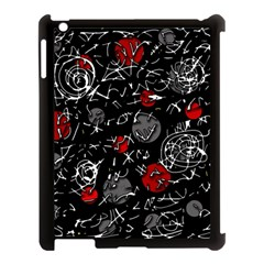 Red mind Apple iPad 3/4 Case (Black)