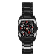 Red mind Stainless Steel Barrel Watch