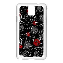 Red mind Samsung Galaxy Note 3 N9005 Case (White)