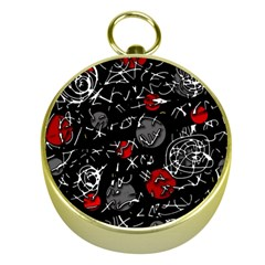 Red mind Gold Compasses