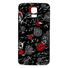 Red mind Samsung Galaxy S5 Back Case (White)