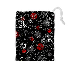 Red mind Drawstring Pouches (Large)