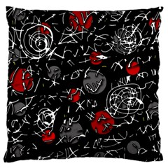 Red mind Large Flano Cushion Case (Two Sides)