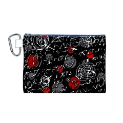 Red mind Canvas Cosmetic Bag (M)
