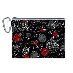 Red mind Canvas Cosmetic Bag (L)