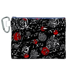 Red mind Canvas Cosmetic Bag (XL)