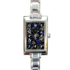 Blue mind Rectangle Italian Charm Watch