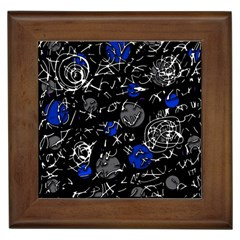 Blue mind Framed Tiles
