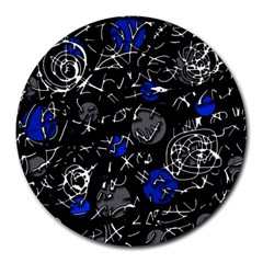 Blue mind Round Mousepads
