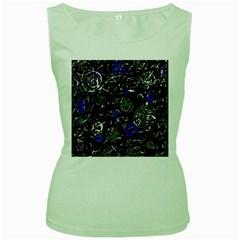 Blue mind Women s Green Tank Top