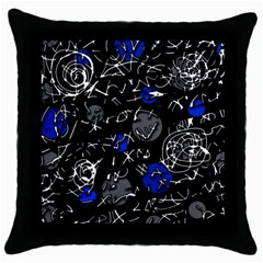 Blue mind Throw Pillow Case (Black)