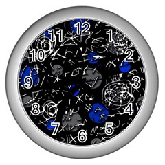 Blue mind Wall Clocks (Silver)