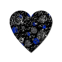 Blue mind Heart Magnet