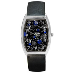 Blue mind Barrel Style Metal Watch