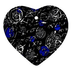 Blue mind Heart Ornament (2 Sides)