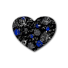 Blue mind Heart Coaster (4 pack)