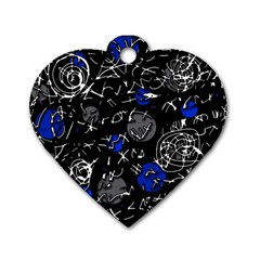 Blue mind Dog Tag Heart (Two Sides)