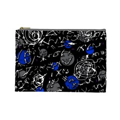 Blue mind Cosmetic Bag (Large)