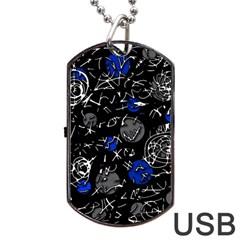 Blue mind Dog Tag USB Flash (One Side)