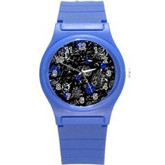 Blue mind Round Plastic Sport Watch (S)