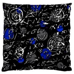Blue mind Large Cushion Case (One Side)