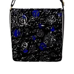 Blue mind Flap Messenger Bag (L)