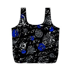 Blue mind Full Print Recycle Bags (M)
