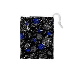 Blue mind Drawstring Pouches (Small)