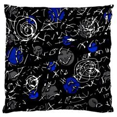 Blue mind Large Flano Cushion Case (Two Sides)