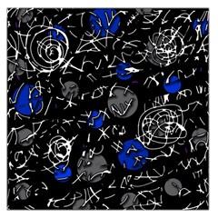 Blue mind Large Satin Scarf (Square)