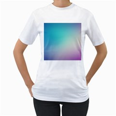 Background Blurry Template Pattern Women s T-Shirt (White) (Two Sided)