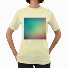 Background Blurry Template Pattern Women s Yellow T-Shirt
