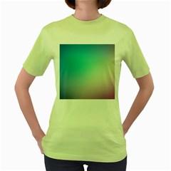 Background Blurry Template Pattern Women s Green T-Shirt