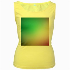 Background Blurry Template Pattern Women s Yellow Tank Top