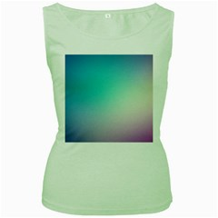 Background Blurry Template Pattern Women s Green Tank Top