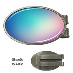 Background Blurry Template Pattern Money Clips (Oval)
