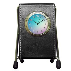 Background Blurry Template Pattern Pen Holder Desk Clocks